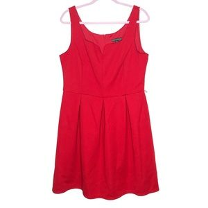 Covington fit and flare pleated dress